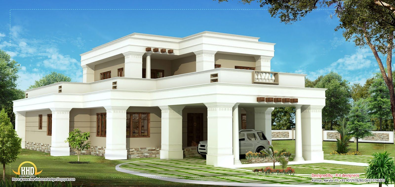 Indian House Designs Double Floor double story square home design sq ft kerala home design file
