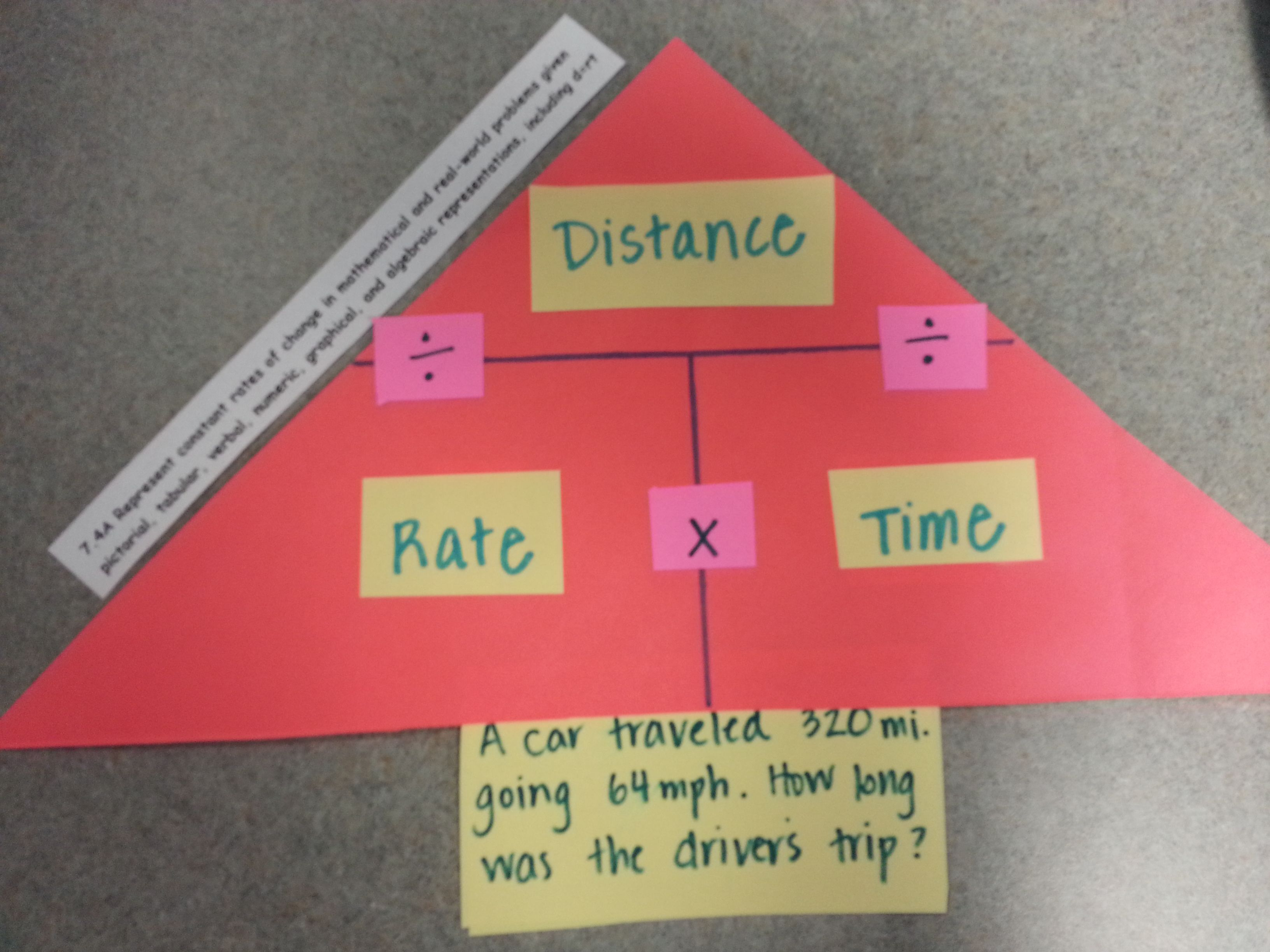Distance Rate X Time