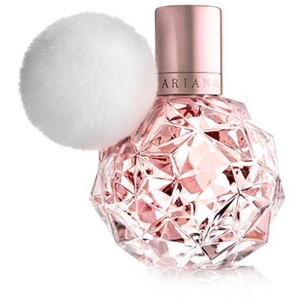 Yasss! We Finally Know What Ariana Grande's Debut Perfume Smells Like ❤ liked on Polyvore featuring perfume e makeup