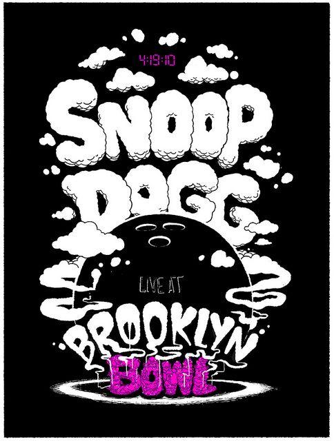 Brooklyn Bowl Snoop Dogg 4 19 10 Music Poster Brooklyn Bowl Rock Posters