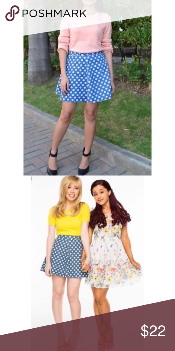ebd861500a Topshop Petite polka dot skater skirt Polka dot denim skater skirt Only  worn once and no longer fits but in perfect condition Topshop PETITE Skirts  Mini