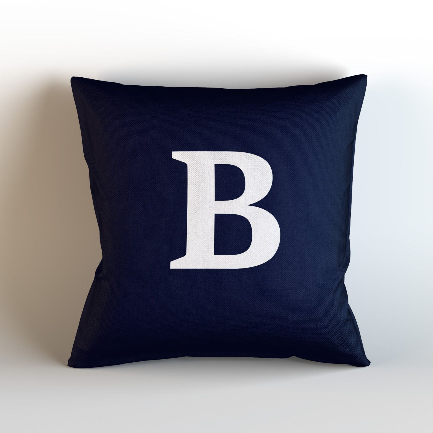 Letter Decorative Throw Pillow Cover, Navy