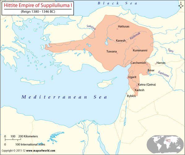 The hittite empire ancient civilizations ancient turkey hittite empire map ancient history religion facts gumiabroncs Images