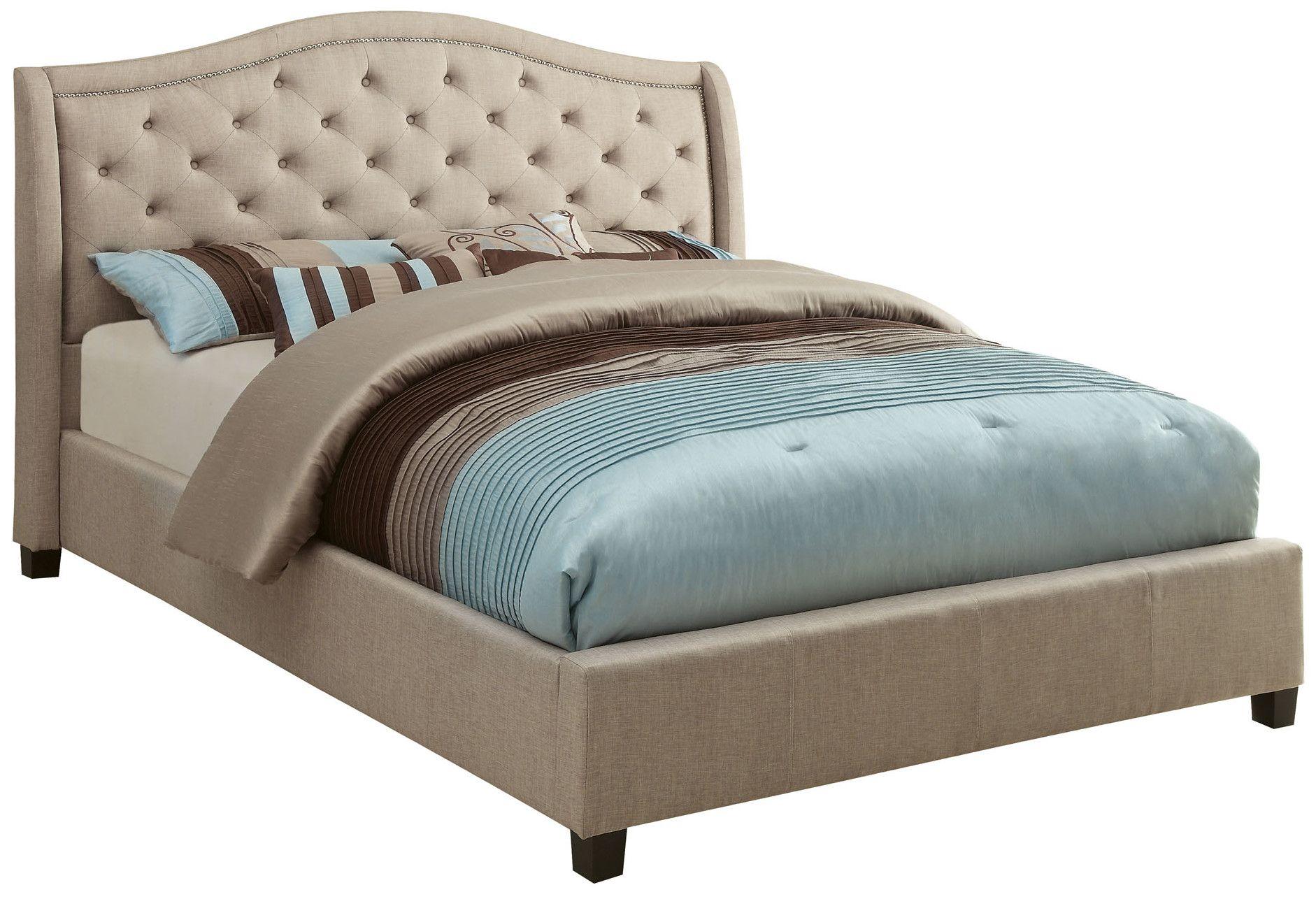 Alaina Upholstered Bed  Upholstered platform bed, Upholstered