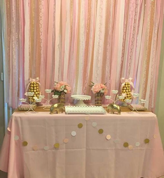 Backdrop Gold White Pink Photoshoot First Birthday Fabric Bridal Shower Backdrop Simple Baby Shower Bridal Shower