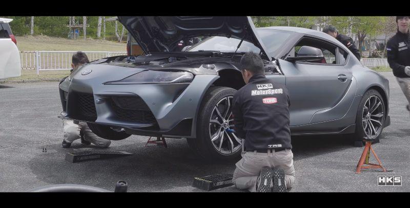 動画 Hksが新型スープラのチューニングパーツ開発開始 マフラー サスペンション等の開発状況を公開 スープラ 車 ランキング トヨタ レクサス