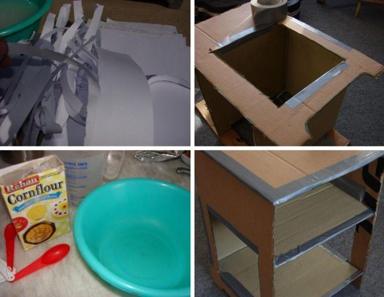 pappe maisst rke und papier werden eingesetzt a pinterest pinterest karton basteln. Black Bedroom Furniture Sets. Home Design Ideas