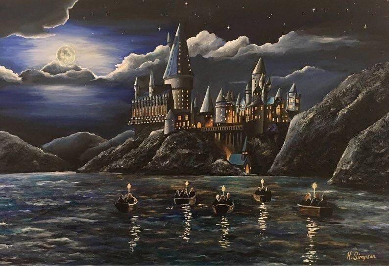 Nice hogwarts painting by hollysimpsonart harrypotter