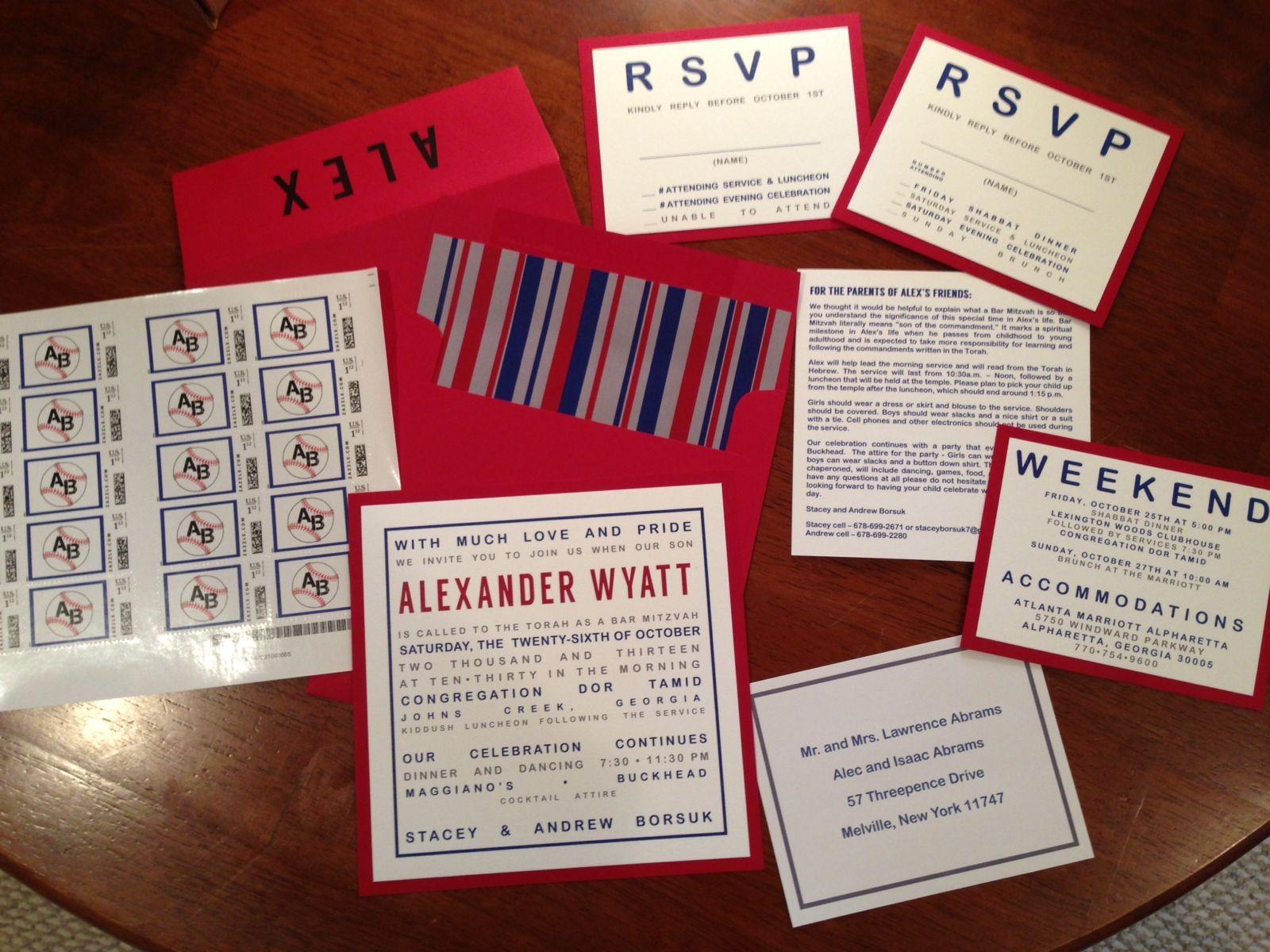 Baseball Themed Bar Mitzvah Invitations | Invitations | Pinterest ...