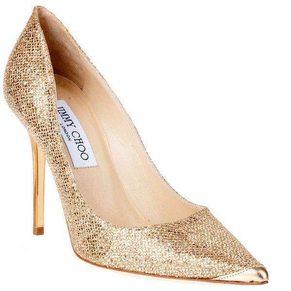 1b2568d2c84e ... discount jimmy choo abel gold glitter pump classic 13 900 uah liked on  polyvore af59c 8a9b9