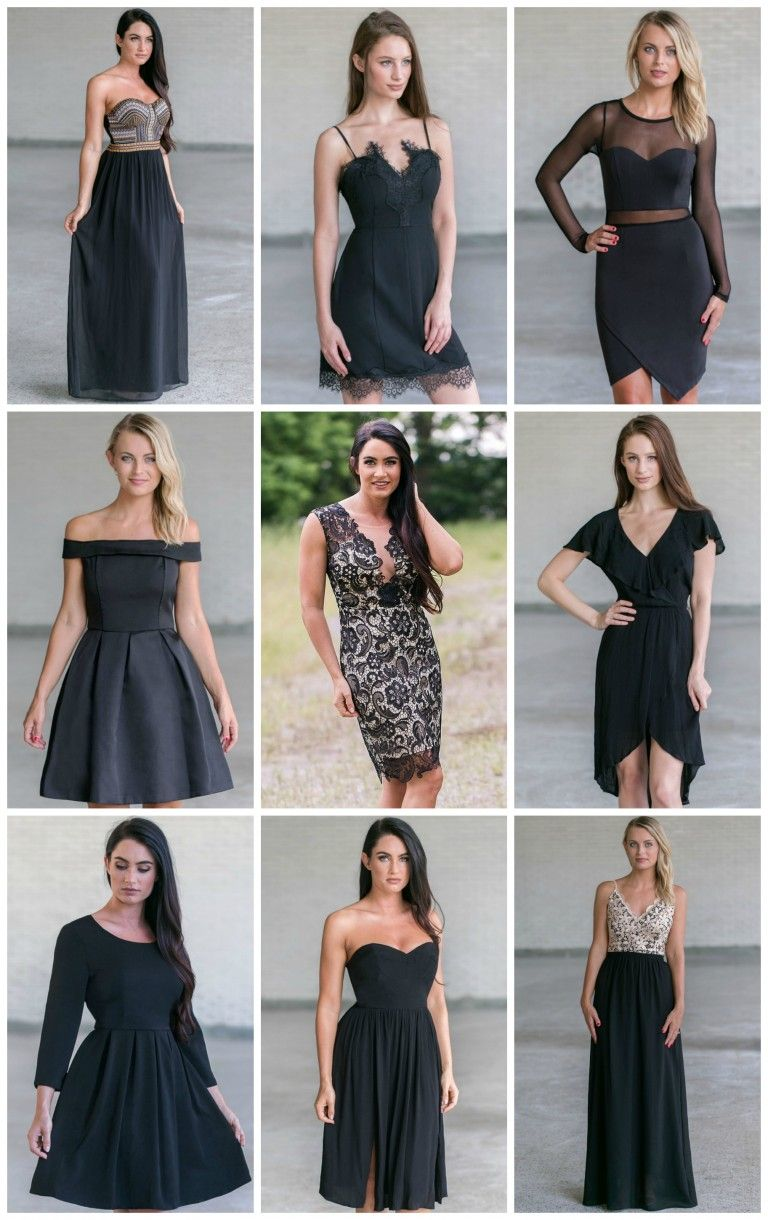 160884bb658 Color Coded  Cute Black Dresses
