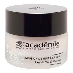Infusion de Nuit à la Rose Een heerlijk geurende nachtverzorging uit de aromaserie van #academiescientifiquedebeaute. Deze balsem versmelt als het ware met de huid.