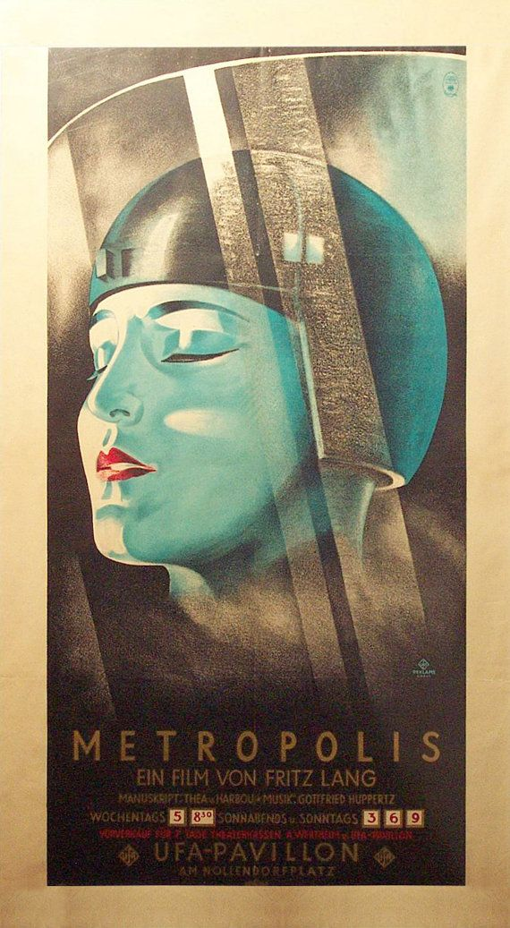OLD Metropolis FRitz Lang Movie Poster Home Decor Wall Posters Retro Canvas Print Color Vintage