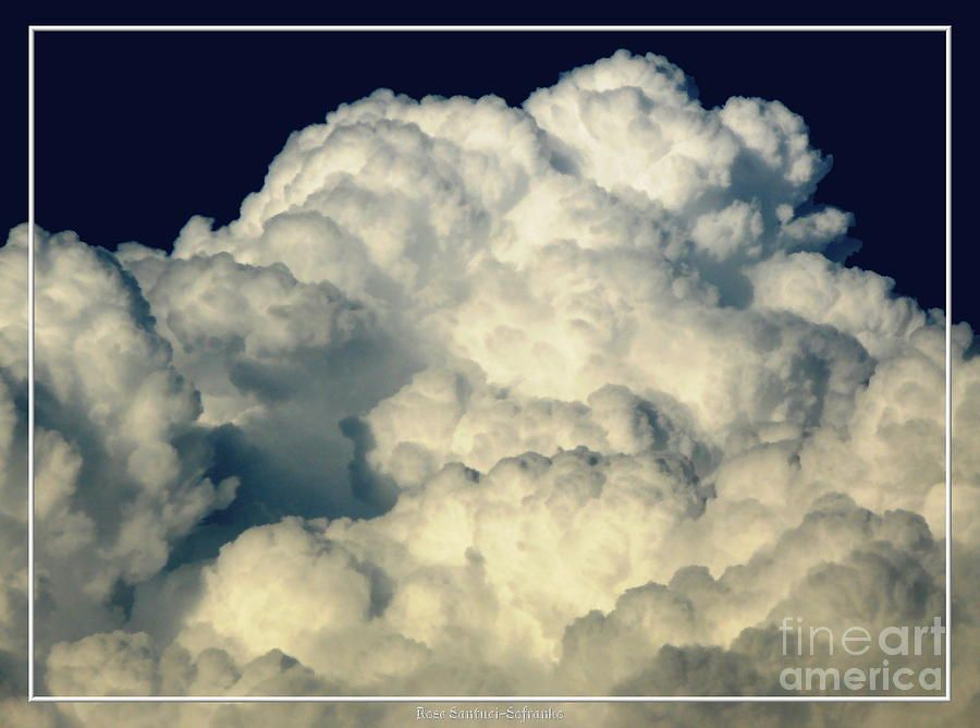 Billowing Clouds with an Oil Painting Effect Photograph  - Billowing Clouds with an Oil Painting Effect Fine Art Print