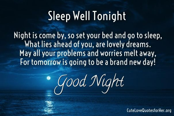 Best Good Night Love Poems | Good night quotes, Good night ...