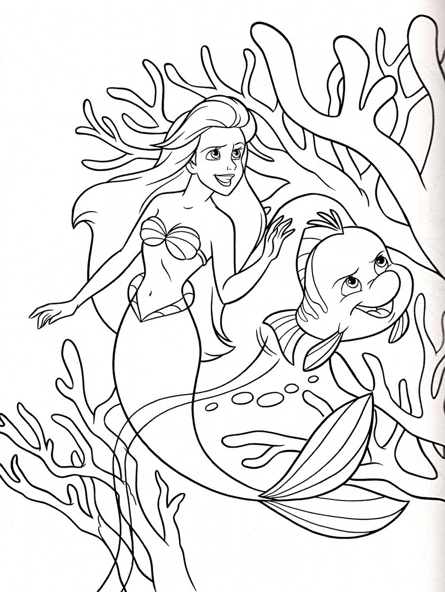 The little mermaid disney coloring page disney pinterest