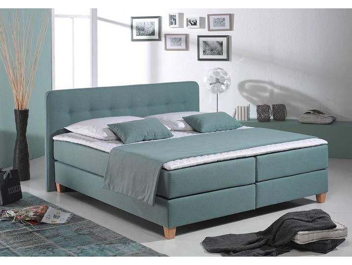 Home Affaire Boxspringbett Fargo Inkl Topper In 3 Matratzenarten 2 Hartegraden Vielen Farben Blau Boxspringbett Bett Mobel Schlafzimmermobel