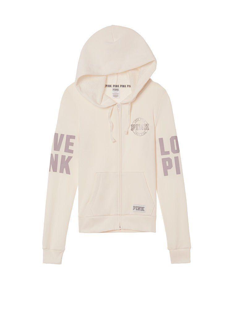 #Popular - Victoria's Secret PINK Perfect Full Zip Hoodie Sweatshirt Winter White Sz L NWT  http://dlvr.it/MpZSZh - http://Ebaypic.twitter.com/7sqv4lmOD7