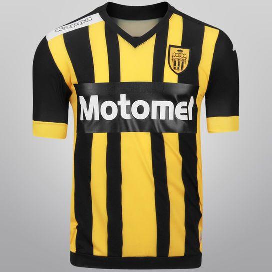 Camiseta Kappa Santamarina Oficial 2014 15 - Negro+Amarillo ... 6ee035833f3e9