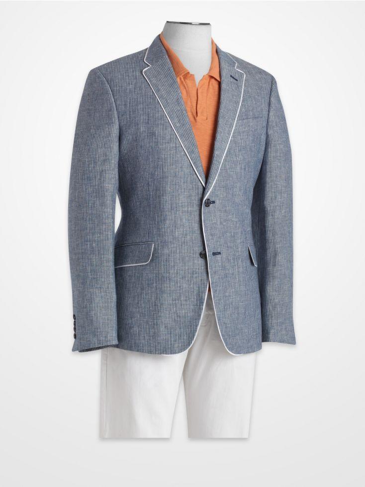 Blair Underwood Blue Stripe Linen Sport Coat   Summer Sport Coats ...