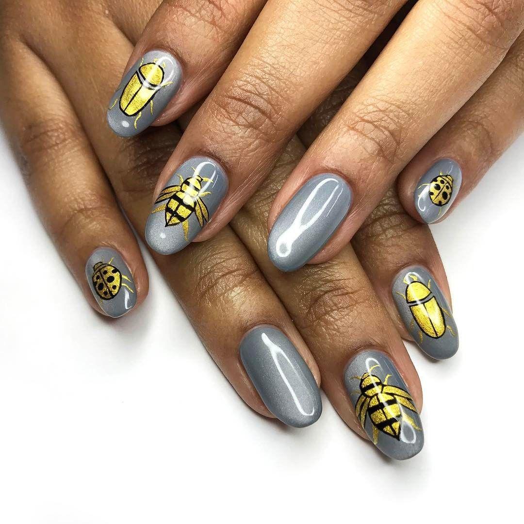 Handpainted Insect Nail Art - - NAILS Magazine | Nails | Pinterest ...