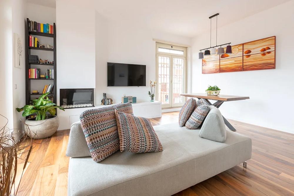 Appartamento 80mq, roma monte verde soggiorno moderno di