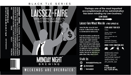 mybeerbuzz.com - Bringing Good Beers & Good People Together...: Monday Night Brewing - Laissez-Faire Wheat Wine Co...