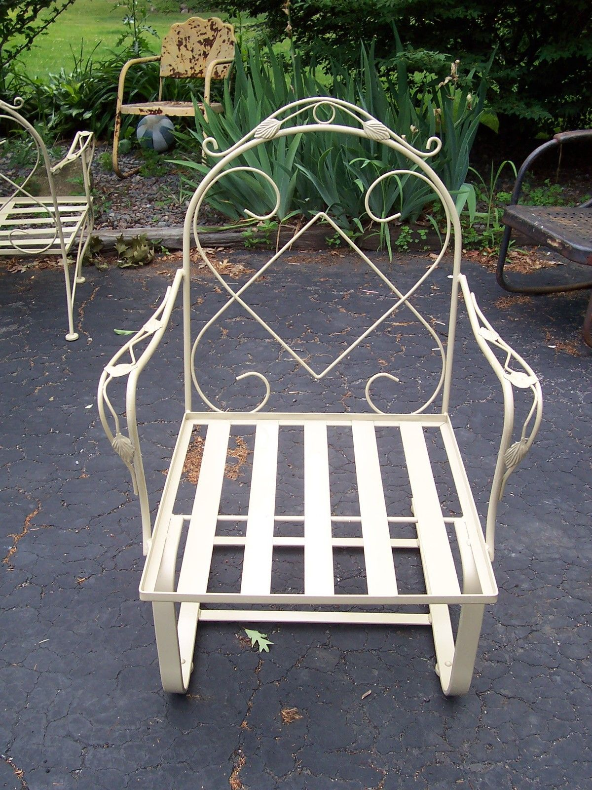 Vtg Salterini Woodard Patio Garden Furniture Rocking Chair