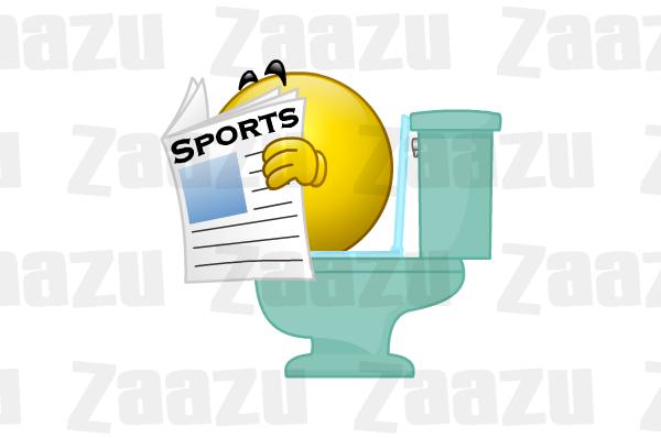 Zaazu Smiley Emoticon Toilet