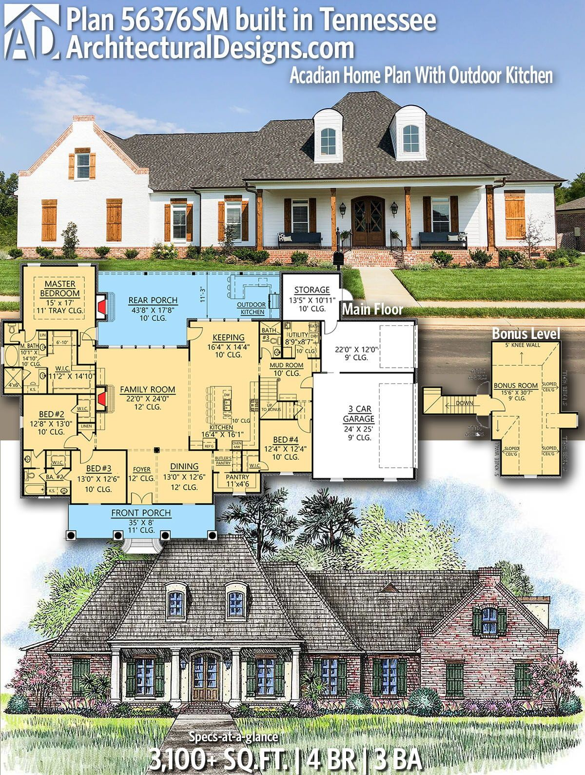 Our client in Tennessee built House Plan
