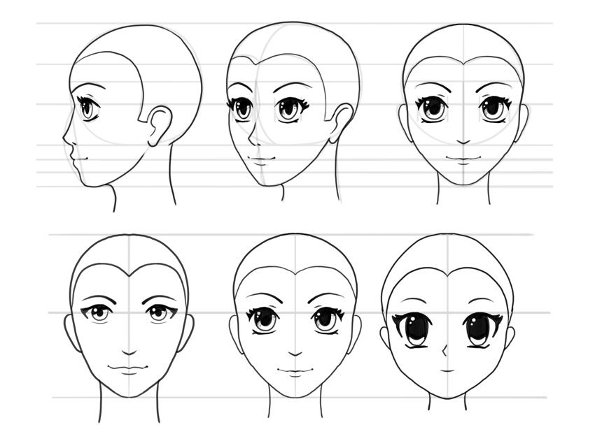 How to draw anime heads and faces design psdtuts anime