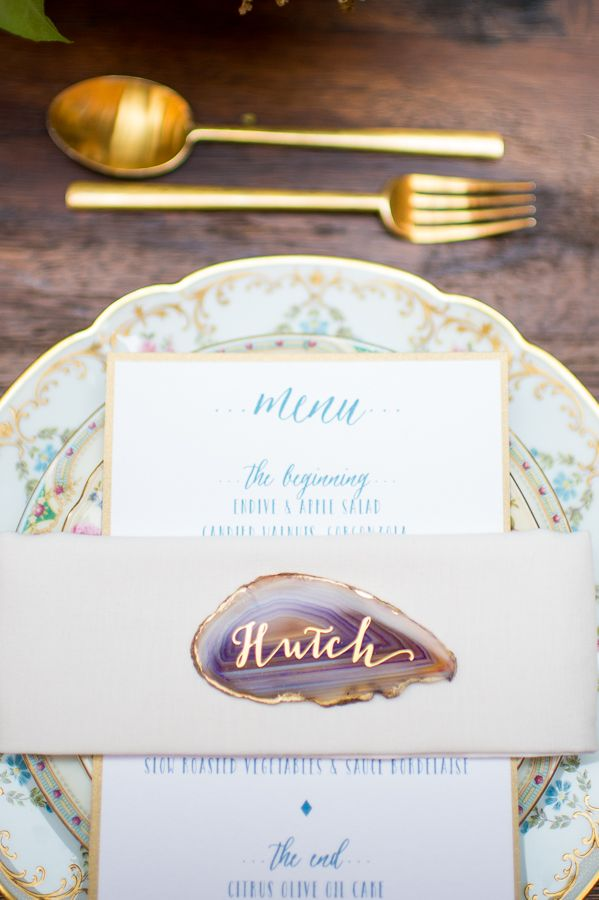 Luv the place cards - all different colors and shapes!