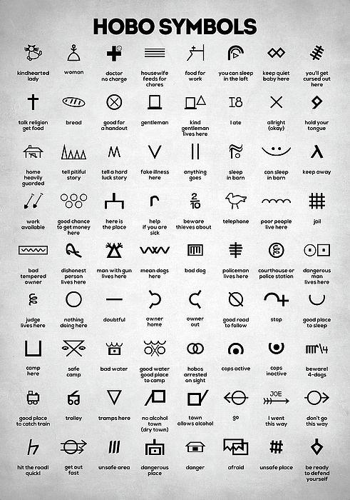 hobo symbols, hobo sig...