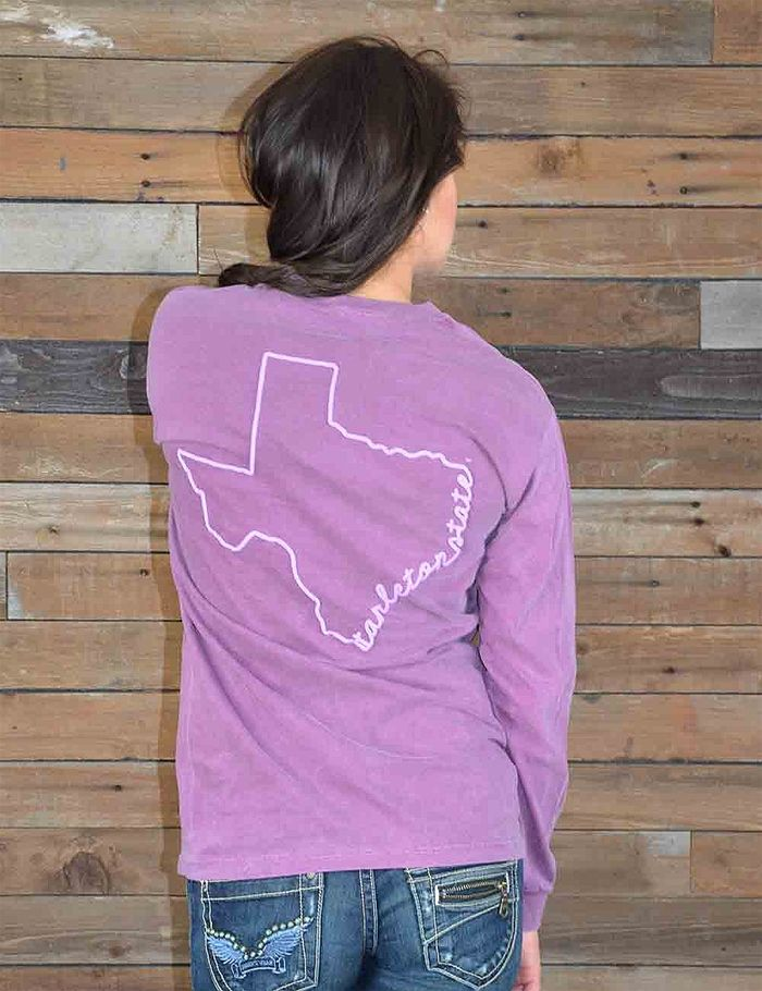 Enjoy this new Tarleton State University Comfort Color t-shirt. It is PERFECT for every TSU Fan! Go Texans!