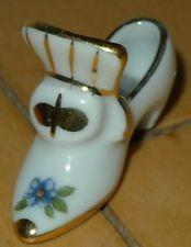 Limoges France Porcelain slipper shoe hand painted miniature