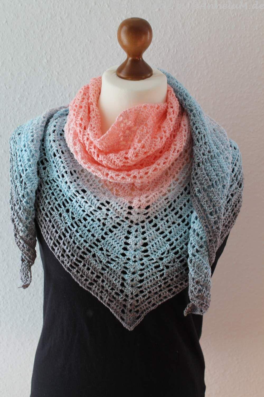 Mosaiktuch crochet gehäkelt … | Pinteres…
