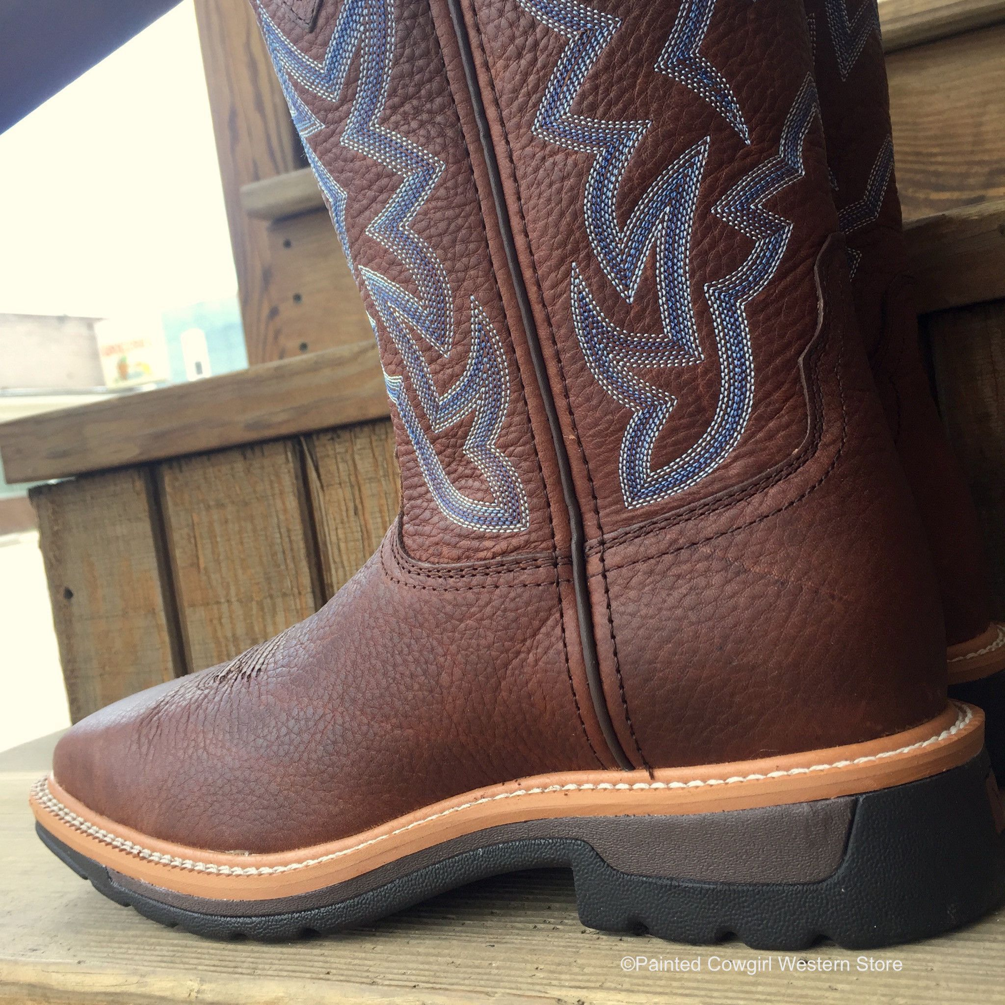 2803b4646ca Twisted X Men's Steel Toe Brown Pebble Work Boots MLCS003   Shoes ...