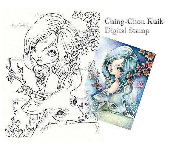 Dolcezza - Digital Download istantaneo di francobolli / Fantasy Art di Ching-Chou Kuik