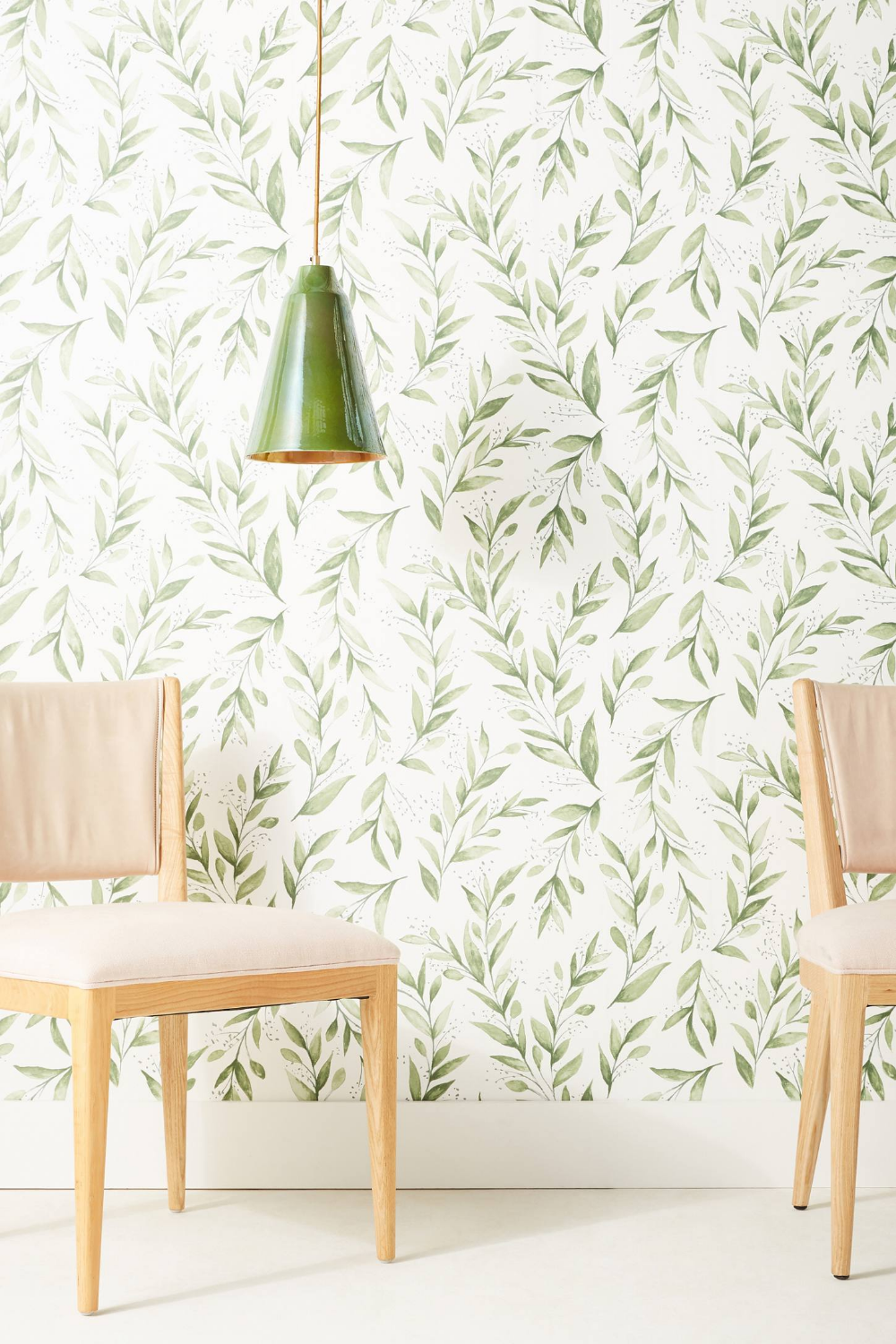 Magnolia Home Olive Branch Wallpaper by in Black, Wall