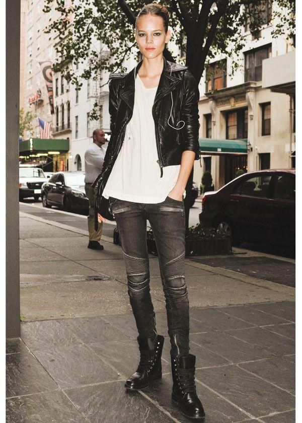 biker style women's clothing - Google zoeken | Leather/biker style ...