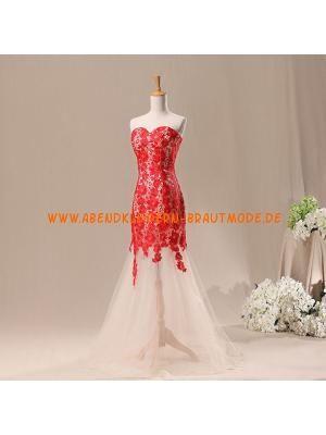 Luxuriöse Abendkleider Meerjungfrau aus Softnetz und Satin