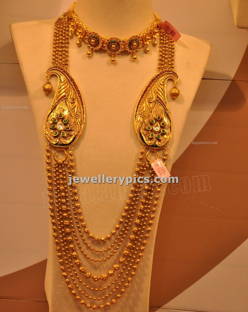 Malabar Gold Gundla Mala With Steps Designs Latest Collection For Gold Jewelry Sets Jewelry Design Mens Gold Jewelry