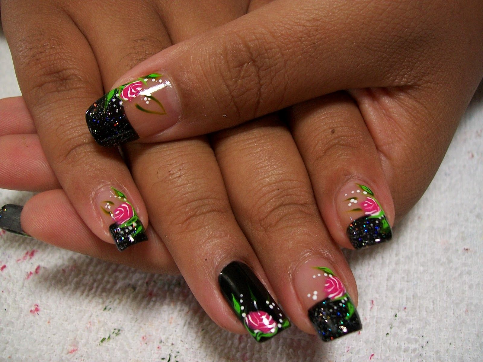 Unhas decoradas francesinha preta. | nails | Pinterest | Fingernägel ...