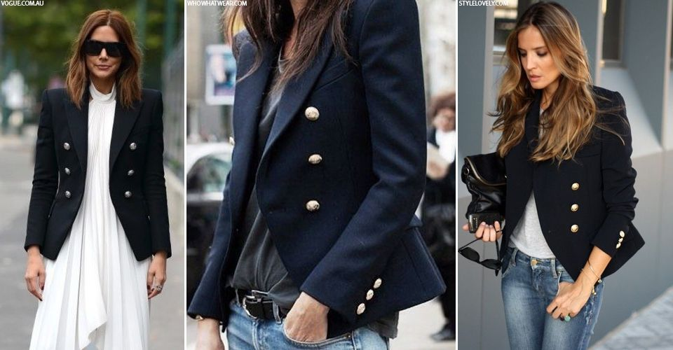 7420988a Image result for balmain double-breasted blazer street style blogger ...