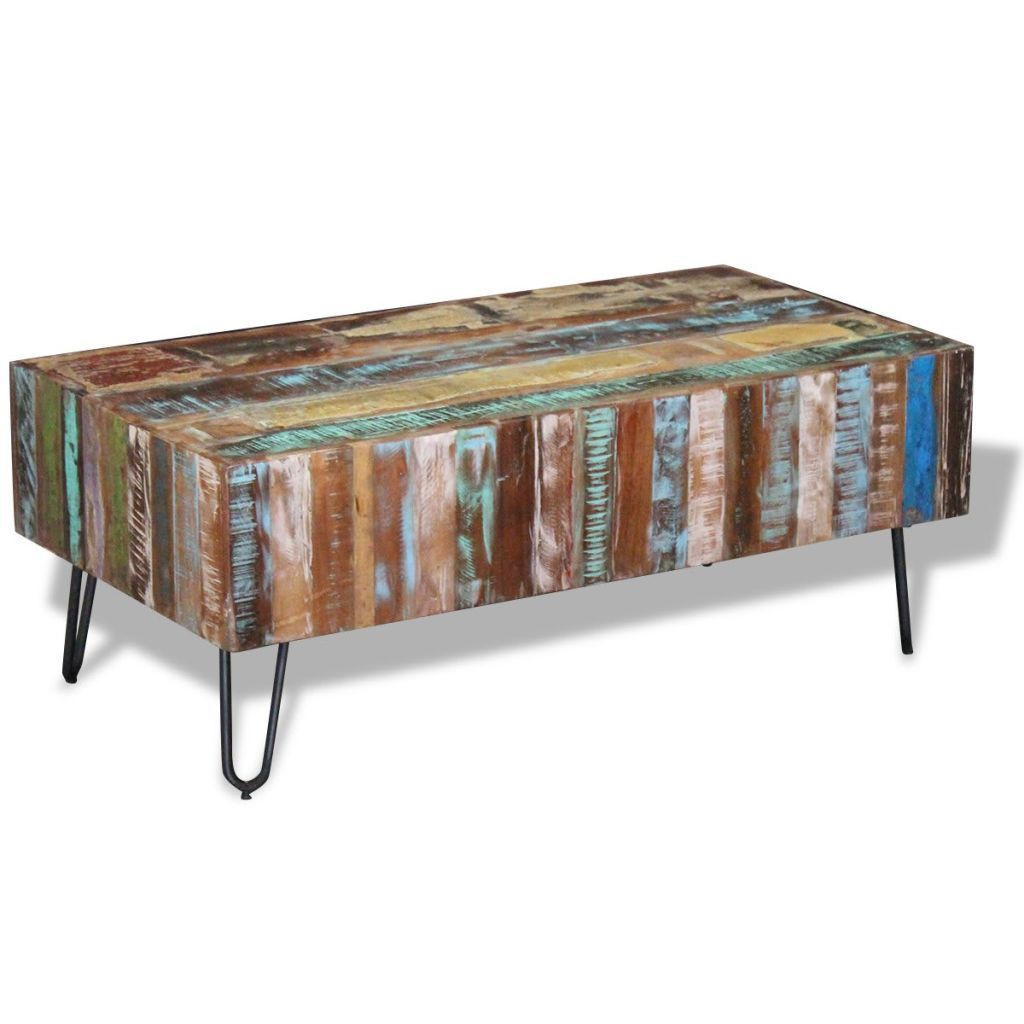 Details About Vidaxl Solid Mango Wood Coffee Table Storage