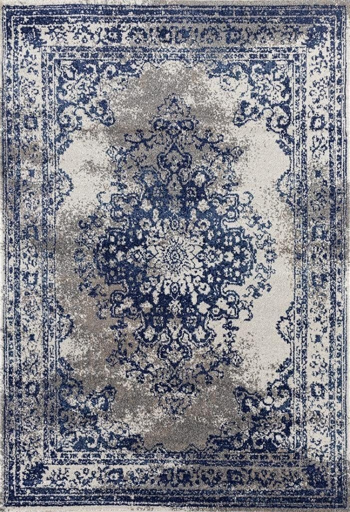 9313 Silver Blue Distressed Oriental Area Rugs