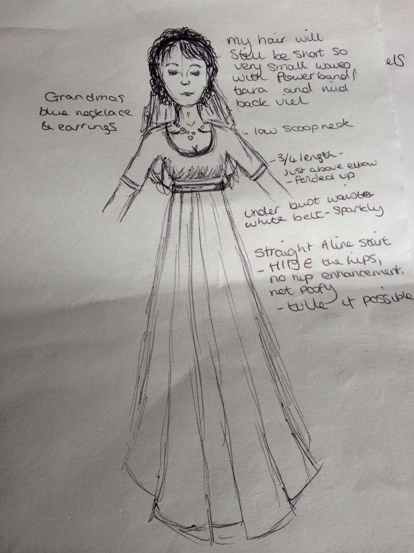 First draft dress design im getting married