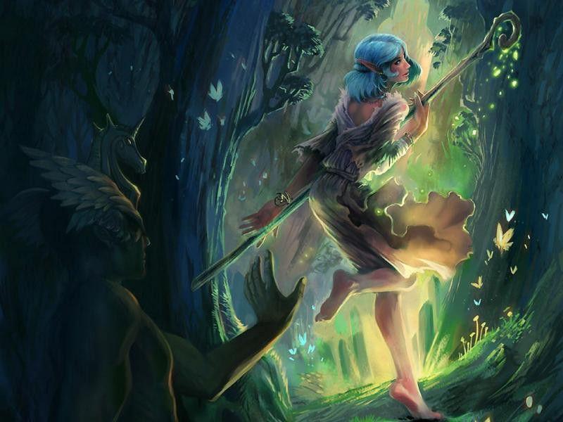 Рисунок эльфы в лесу, своими руками свадьбу