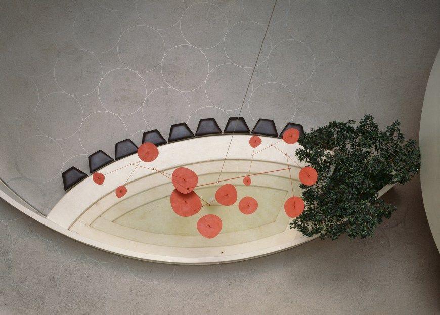 Red Lily Pads Museu Displays Exposicao