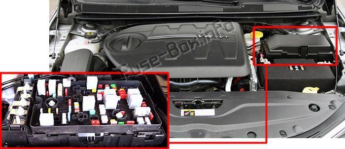 Chrysler 200 (Mk2; 2015-2017) < Fuse Box location | Fuse box, Chrysler 200,  ChryslerPinterest
